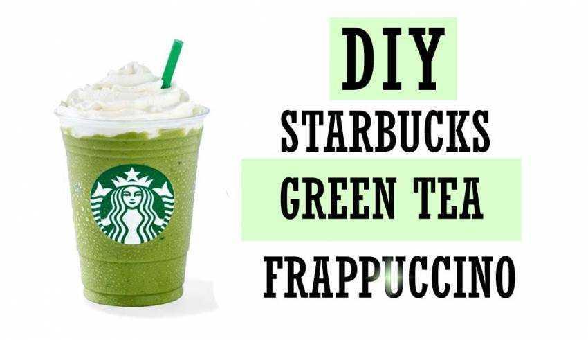 Delicious DIY Starbucks Green Tea Frappuccino